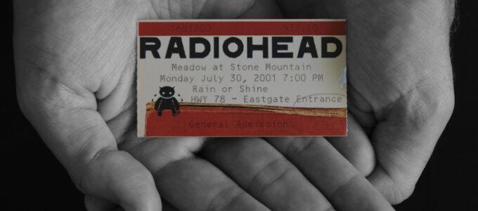 Radiohead Ticket July 30, 2001